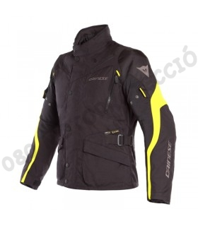 Chaqueta Dainese Tempest 2 D-dry Black/Black/Fluo-Yellow